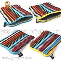 Multicolor Stripe Neoprene Sleeve for ipad 4,for ipad 4case