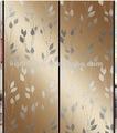 زجاج المرآة الزخرفة اللون للانزلاق الباب