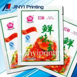 Full color laminated plastic bag for food