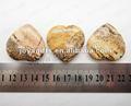 35MM الصورة شكل قلب الحجر جاسبر، وارتفاع مصقول، عالية الجودة، والحجر الطبيعي شكل قلب