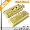 Free laser engraved Metallic golden bar flash disk 500gb