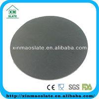 slate candle holder/black round slate stone candle holder/natural slate stone candle platter