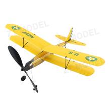 Aviator-Biplane 17 Rubber Band Powered Plane