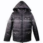 Windproof Softwell Men's winter warm Jacket with fake fur hood