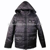 Windproof Softwell Men's winter warm Jacket with fake fur hood