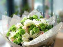 organza flower bouquet sleeve