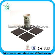 4pcs/set dark black square coaster set
