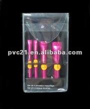 Mini clear and waterproof pvc eyebrow pencil bag
