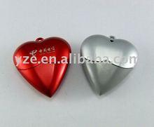 Heart Shape USB flash memory,Plastic USB flash drive