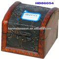 vintage pequeno tesouro caixa de peito pequeno tesouro boxwooden tesouro do ofício