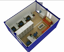 Low cost 40ft/20ft prefab container house design