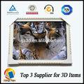 materiale pet lenticolare lupo 3d foto con cornice per la decorazione