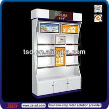 TSD-W055 Custom store floor Special design MDF cosmetics shop fitting/store design for cosmetics/cosmetics display units