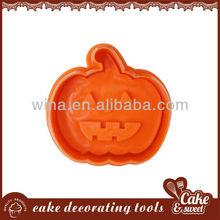 Halloween plastic pumpkin cookie cutter stamp