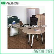YZB02 unique design promotion desk with round side table