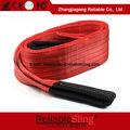 China pulgadas 5 5 toneladas plana de color rojo de la cuerda de nylon/bandalateral de poliéster eslinga