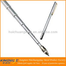 Stainless steel pointer pen telescopic metal ballpoint pen