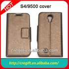 Colorful,good quality slik wallet leather case for Samsung galaxy S4 i9500 flip cover