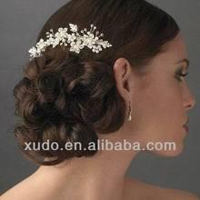 latest wholesale handmade wedding hair accessories crystal pearls made
