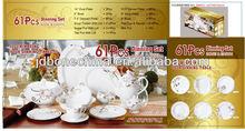 61pcs 60pcs commercial A grade high strength royal doulton dinnerware set tableware