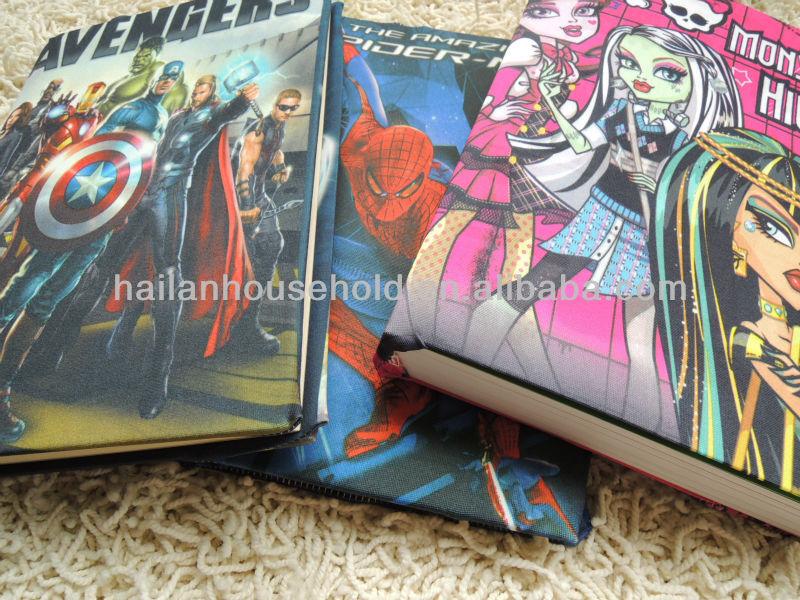 Stretchable Printed Fabric Book Cover,popular elastic children book covers,book coversinbulk