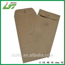 Luxury custom high quality brown kraft paper envelope