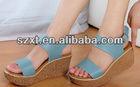 wedge heel hot selling beautiful elegant high heel sexy women shoes