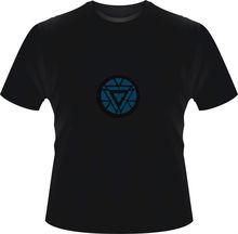 2014 new Iron Man 3 T-Shirt LED T shirts,Light-Up LED Iron Man Shirt,LED Light T Shirt Shirts Flashing EL Equalizer T-Shirt