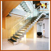 Modern I-shaped Steel Glass Stairway