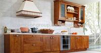 pecan wood kitchen cabinets