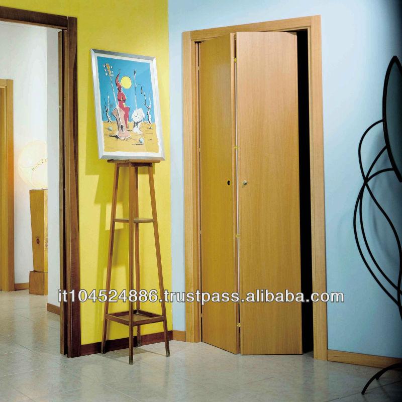 Madera correderas puerta puerta plegable puertas - Puerta corredera plegable ...