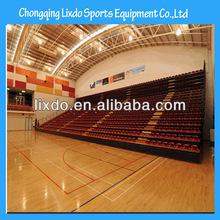 professional design telescopic grandstand ,manual control retractable bleacher,basketball bleacher LX-986
