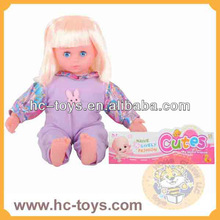 18 inch movable eyes cotton doll with music