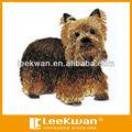 diseño de bordado chino de fieltro bordado perro aplique el parche