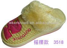 women hign heel 100 cotton slippers