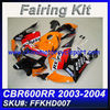 For HONDA 2003 2004 600RR CBR 600 RR Fairings FFKHD008