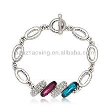 OUXI Rhodium plated new popular bracelets jewellery made with Swarovski elements 30127