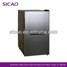 Dual Zone Refrigerated Wine Cabinet Display Cooler Wine Fridge Transparent Refrigerator