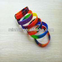 Wholesale Lot 50/100pcs Blank Silicone Rubber Personalized Wristband Bracelet