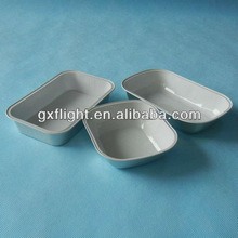 Airline sealable disposable aluminum foil trays