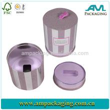 custom luxury rigid exquisite round paper cardboard gift box