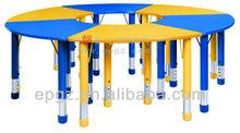 Madera brillante muebles de color de escritorio / de china muebles de color / 6 sillas de seguridad infantil muebles