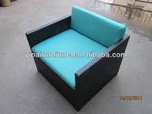 aluminum rattan recliner single rattan sofa set YPS052A
