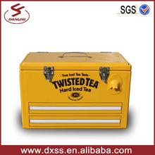 Metal ice cooler box beer bottle carrier 25L
