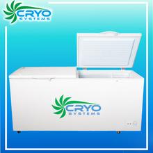 -20 degree C low temperature horizontal display bottom defrost double door refrigerator deep freezer