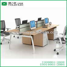 Tarrow-06 office wooden workstation with tabletop partition