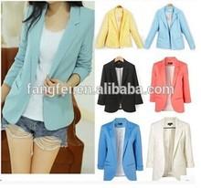 Charming design Jackets Suit One Button Slim blazer women 2015