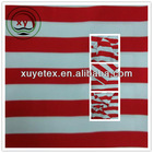 Wholesale red and white stripes fabric, Twill peach skin fabric for garment