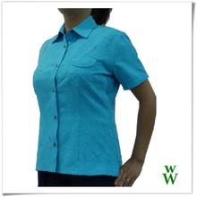 Taiwan fabric women quick dry UPF short sleeves shirts