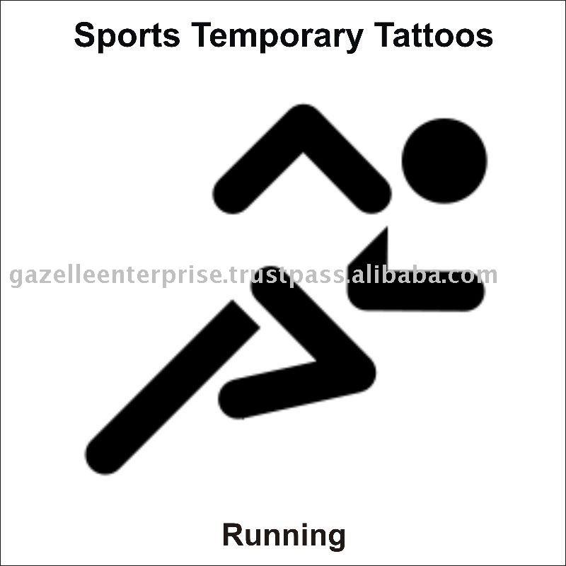 Running Tattoos Marathoners Tattoo Sticker Marathon Racing